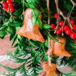 handmade cinnamon ornaments Christmas Bells