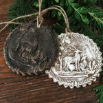 handmade cinnamon ornaments made from springerle molds