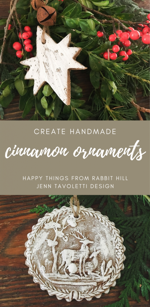 DIY Handmade Cinnamon Ornaments with Vintage Country Farmhouse Style #handmade #ornaments #DIYChristmas #Creatchristmas #Farmhousestyle #vintagestyle #countrystyle #primitivestyle #Christmastutorial