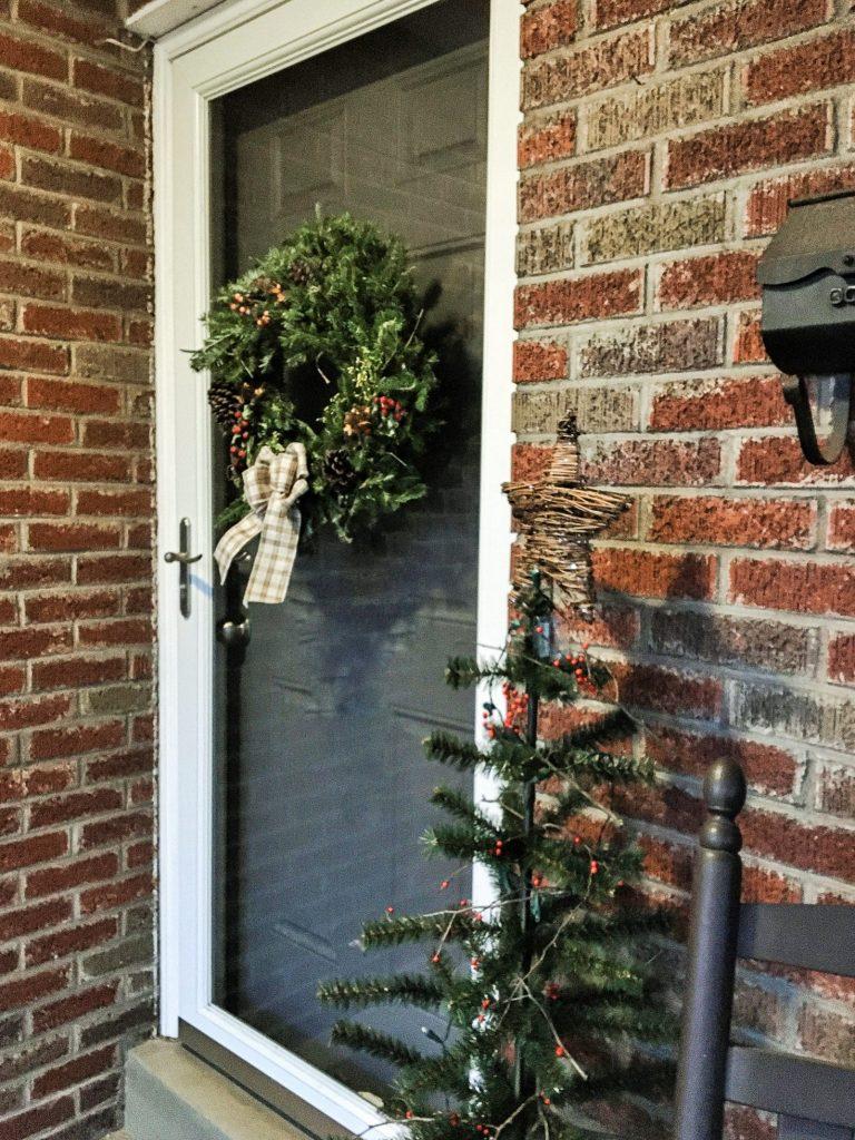 Christmas porch Front door wreath