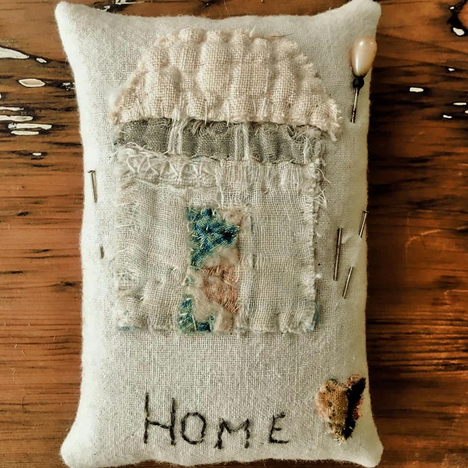 """""""Home is Where the Heart is"""" Pincushion (SOLD)"""