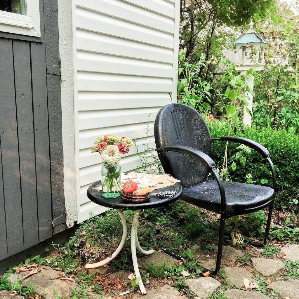 Cottage garden around my garden shed studio