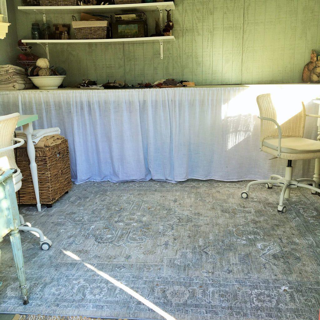 Inside my tiny garden shed studio