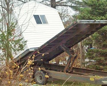 delivering the studio shed