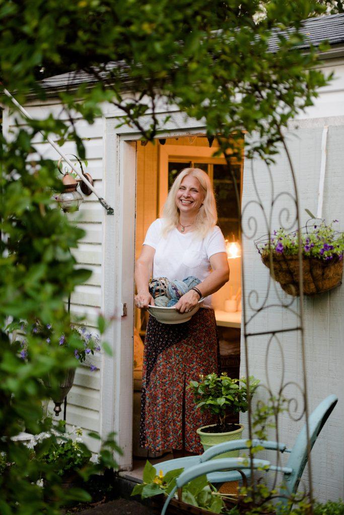 Jenn Tavoletti in my Garden Studio