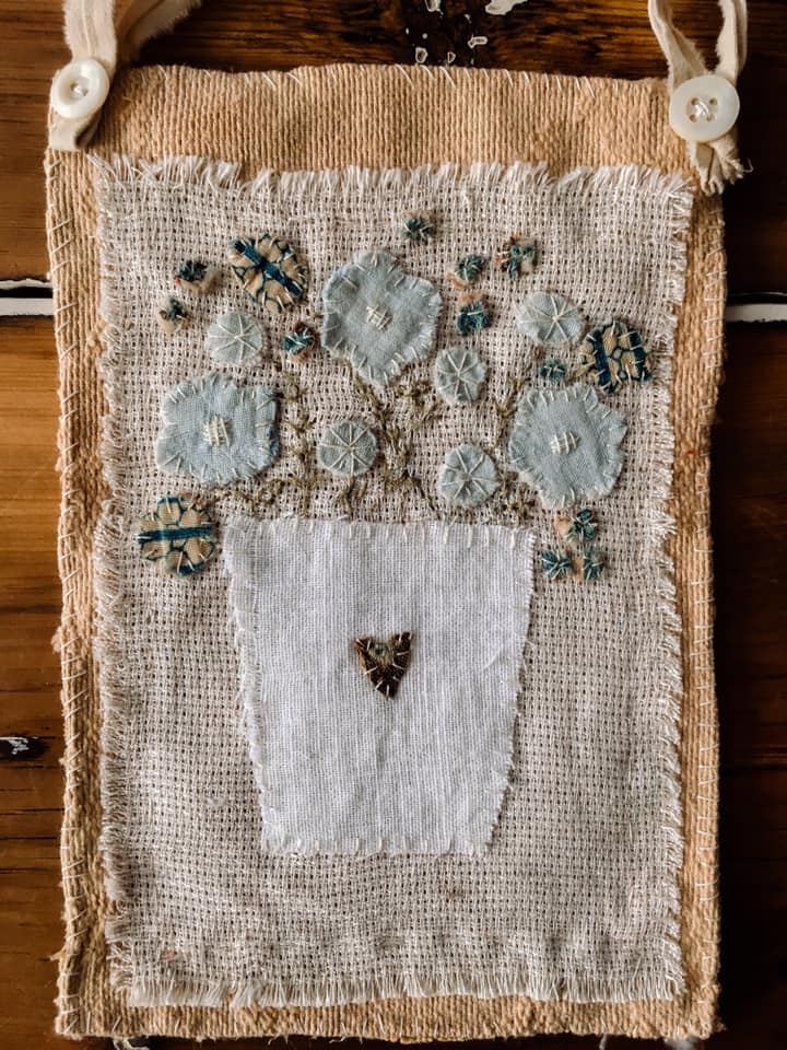 Blue Wildflower Wallhanging (Sold)