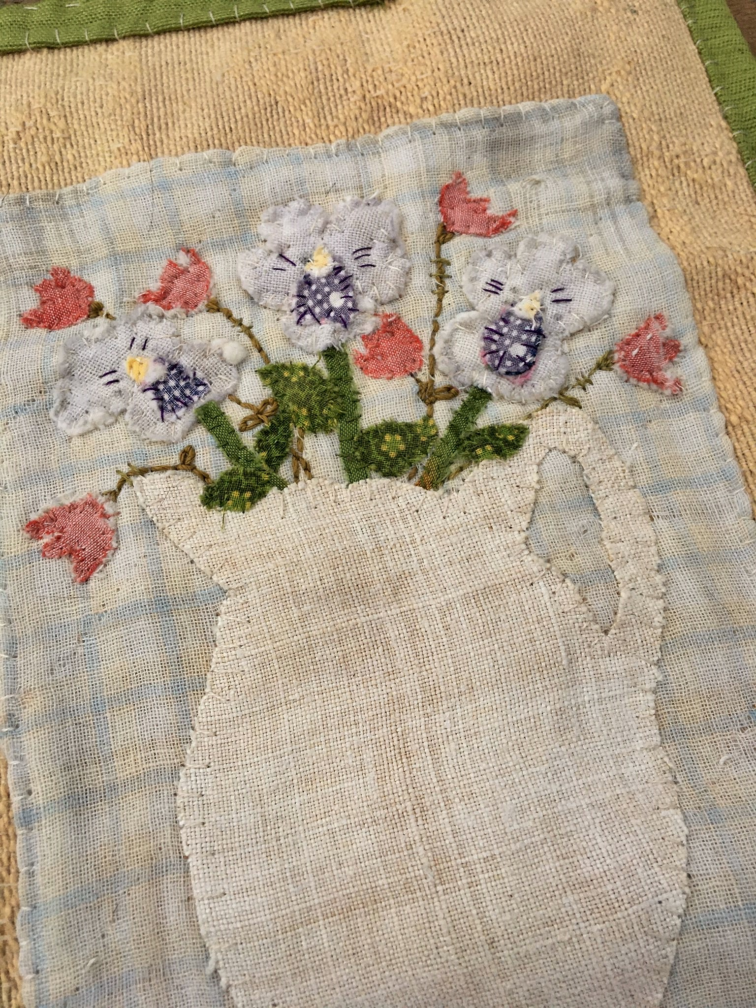 Spring Blossoms in Ironstone  Wall Hanging – Sold, thank you
