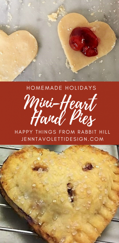 How to make these delightful and easy heart shaped hand pies for Valentines day or anyday!