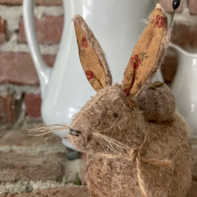 A little pincushion rabbit I made for spring - home tour post