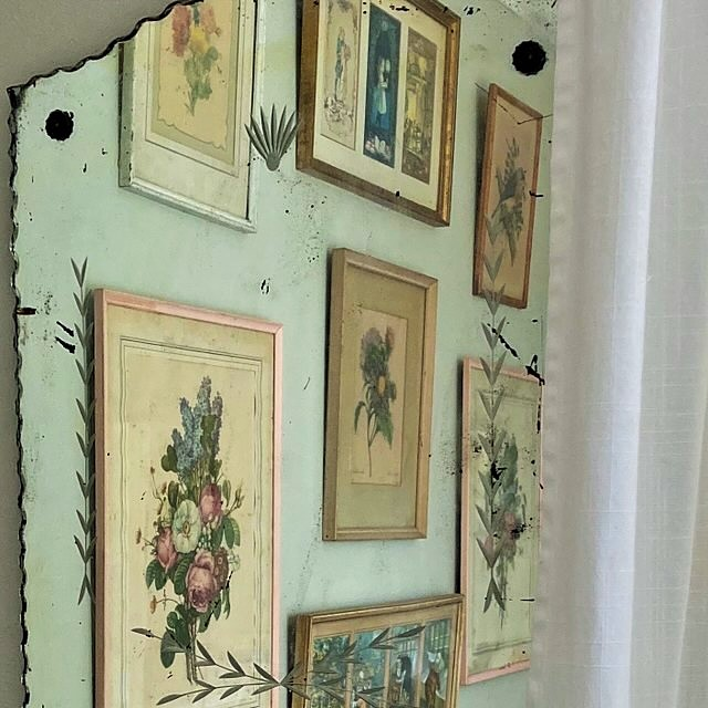 Home Tour Gallery Wall of Vintage Prints