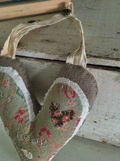 Valentine Textile Heart SOLD