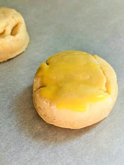Dip Irish Scone in egg glaze