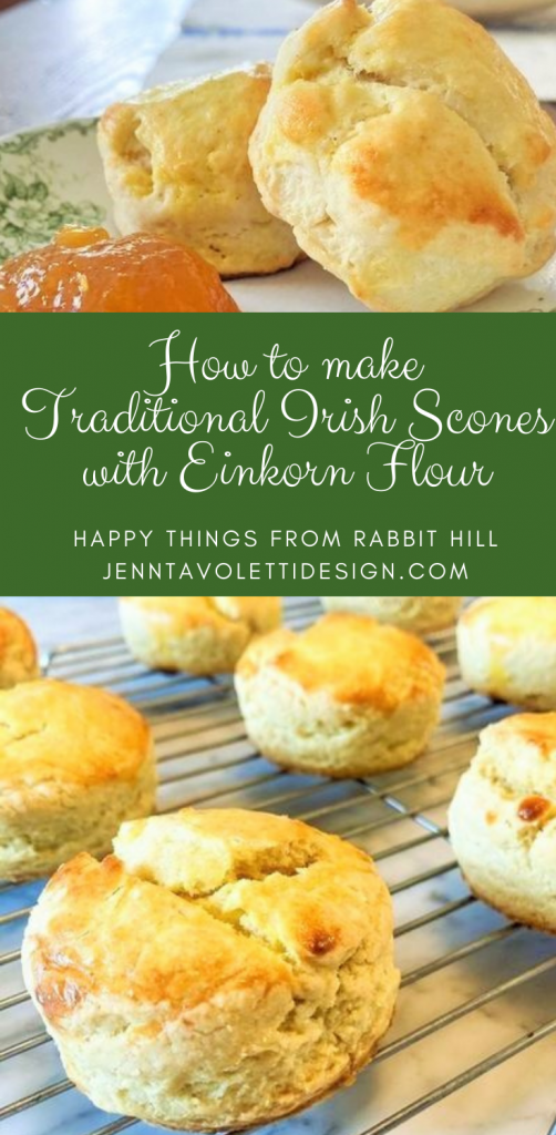 Pin this for later: Traditional Irish Scones made with EinKorn flour