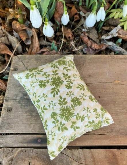 Botanical Textile art Pincushion