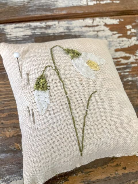 Handmade Snowdrop Pincushion (SOLD)