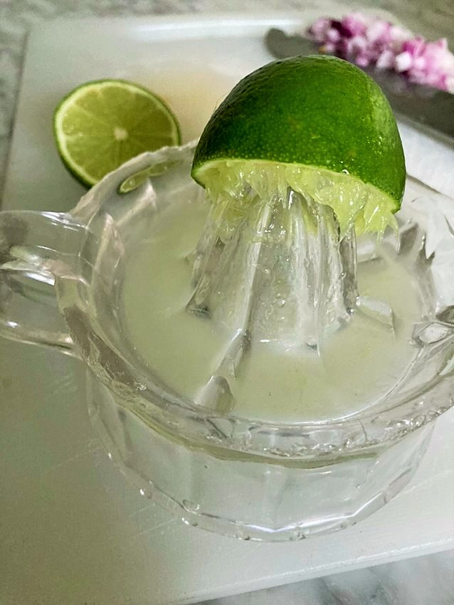 fresh squeezed lime for guacamole