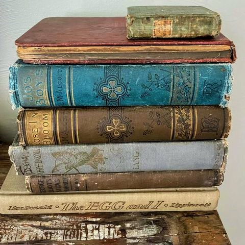 My color palette in old books for this years fall decorating
