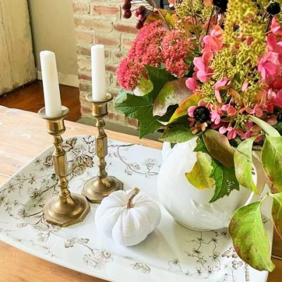 Fall Decorating My Living Room – simple, natural, pretty, autumn